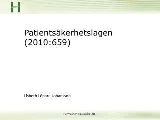 Patients�kerhetslagen (2010:659)