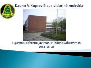Kauno V.Kuprevičiaus vidurinė mokykla