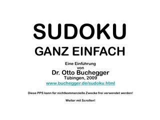 SUDOKU GANZ EINFACH