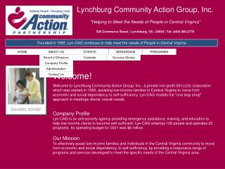 "Lynchburg Community Action Group, Inc. ""Helping to Meet the Needs of People in Central Virginia"""