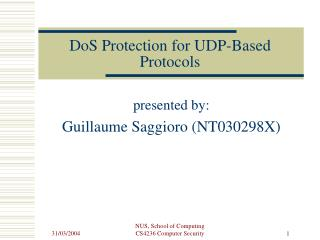 DoS Protection for UDP-Based Protocols