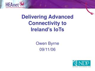 Delivering Advanced Connectivity to Ireland's IoTs