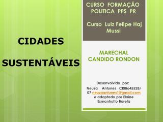 CURSO FORMAÇÃO POLITICA PPS PR  Curso Luiz Felipe Haj Mussi