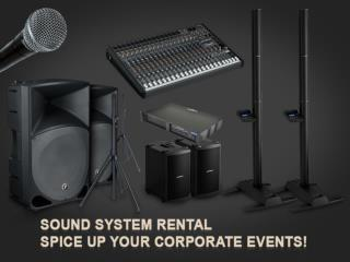 Sound System Rental Denver – Customized Rental Option