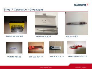 Shop 7 Catalogue - Giveaways