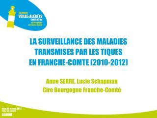 LA SURVEILLANCE DES MALADIES TRANSMISES PAR LES TIQUES  EN FRANCHE-COMTE (2010-2012)