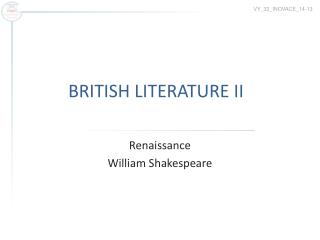 BRITISH LITERATURE II