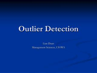 Outlier Detection