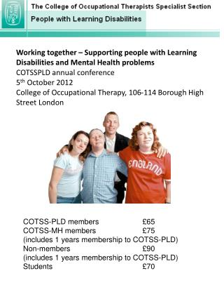 Working together – Supporting people with Learning Disabilities and Mental Health problems