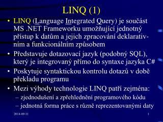 LINQ (1)