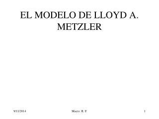 EL MODELO DE LLOYD A. METZLER