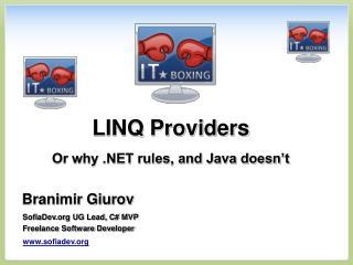 LINQ Providers