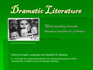 Ppt analyzing dramatic literature powerpoint presentation id 976343 for Farcical situation definition