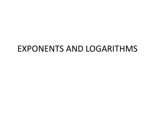 Laws of logarithms
