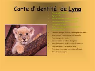 Carte d�identit�  de  Lyna