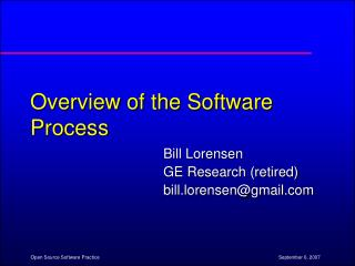 Overview of the Software Process