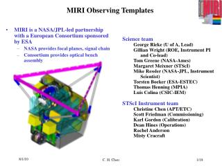 MIRI Observing Templates