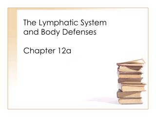 The Lymphatic System  and Body Defenses Chapter 12a