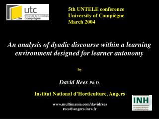 5th UNTELE conference University of Compiègne March 2004