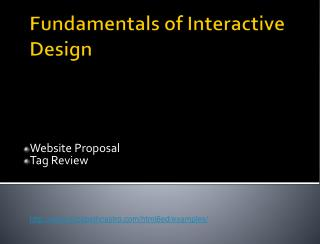 Fundamentals of Interactive Design