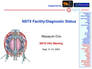 NSTX Facility/Diagnostic Status