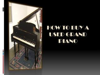How to Buy a Used Baby Grand Piano