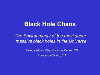Black Hole Chaos