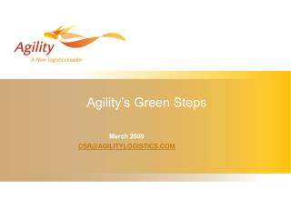 Agility s Green Steps