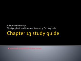Chapter 13 study guide