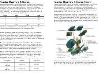 Spartan Overview & Status: