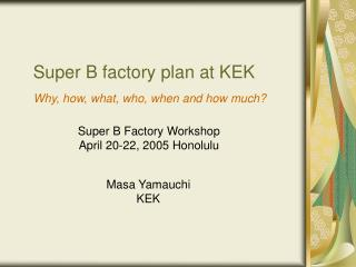 Super B factory plan at KEK