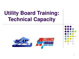 Utility Board Training: Technical Capacity