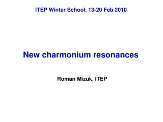New charmonium resonances