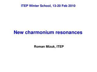 New charmonium resonances
