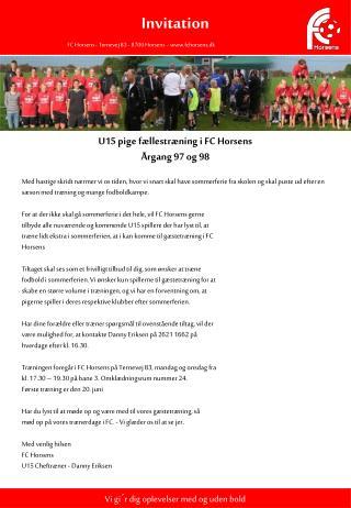 FC Horsens - Ternevej 83 - 8700 Horsens  - fchorsens.dk