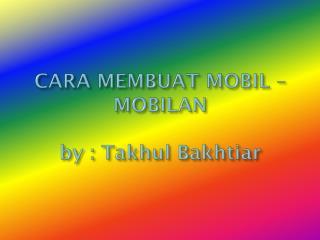 CARA MEBUAT MOBIL-MOBILAN