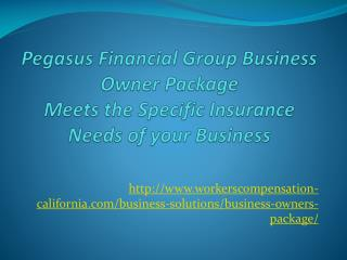 age/ Pegasus Financial Group Business Owner Package