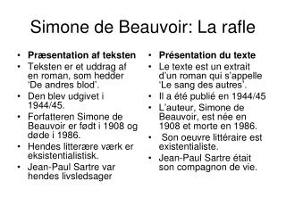 Simone de Beauvoir: La rafle