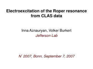 Electroexcitation of the Roper resonance  from CLAS data