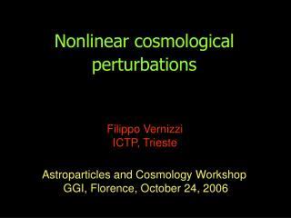 Nonlinear cosmological perturbations