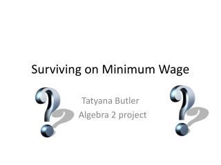 Surviving on Minimum Wage