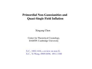 Primordial Non-Gaussianities and  Quasi-Single Field Inflation
