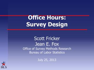 Office Hours: Survey Design