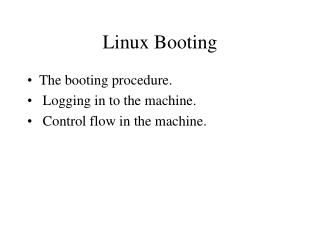 Linux Booting
