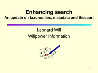 Enhancing search An update on taxonomies, metadata and thesauri
