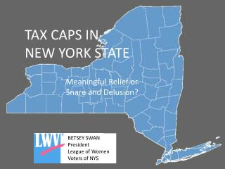 TAX CAPS IN  NEW YORK STATE