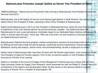 NationaLease Promotes Joseph Gallick