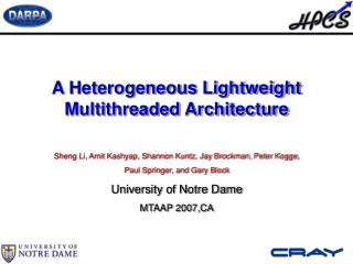 A Heterogeneous Lightweight Multithreaded Architecture