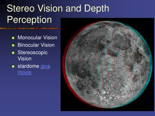 Stereo Vision and Depth Perception