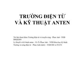 TR Ư ỜNG  Đ IỆN TỪ  VÀ KỸ THUẬT ANTEN